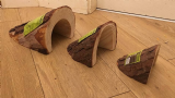 Komodo natural wooden caves SMALL ONLY- free postage